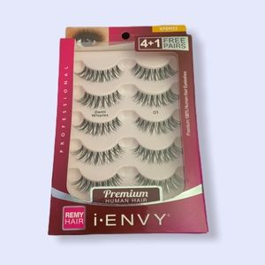 (5) Pairs of KISS Long wispy Lashes human hair